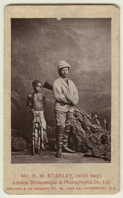 Sir Henry Morton Stanley; Kalulu (Ndugu M'hali), by London Stereoscopic & Photographic Company, 1872 - NPG x128738 - © National Portrait Gallery, London