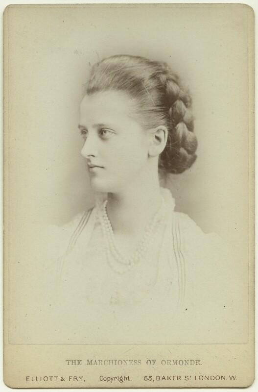 Elizabeth Harriet (née Grosvenor), Marchioness of Ormonde, by Elliott & Fry, 1870s - NPG x38225 - © National Portrait Gallery, London