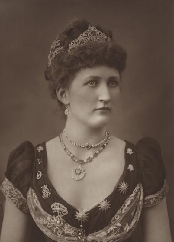 Julia Mary (née Lethbridge), Lady Carew, by Herbert Rose Barraud, published by  Eglington & Co, published 1889 - NPG Ax5461 - © National Portrait Gallery, London