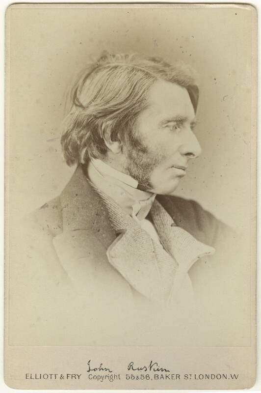 John Ruskin, by Elliott & Fry, (1867) - NPG x35909 - © National Portrait Gallery, London