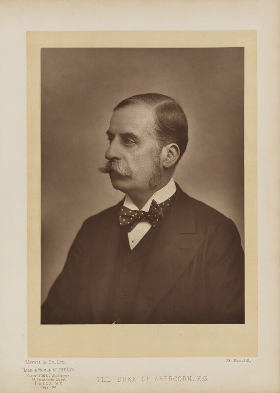 James Hamilton, 2nd Duke of Abercorn, by Mayall & Co, published by  Eglington & Co, published 1893 - NPG Ax27654 - © National Portrait Gallery, London