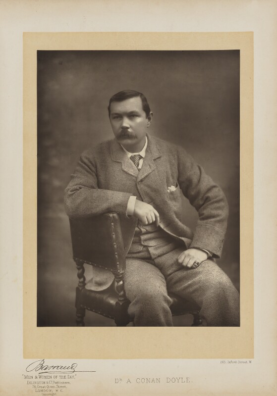 Arthur Conan Doyle, by Herbert Rose Barraud, published by  Eglington & Co, published 1893 - NPG Ax27656 - © National Portrait Gallery, London