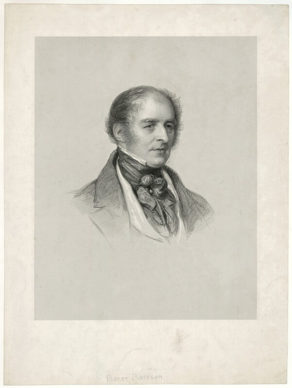 Sir Robert Bateson, 1st Bt, by Francis Holl, after  Károly (or Charles) Brocky, early 19th century - NPG D21502 - © National Portrait Gallery, London