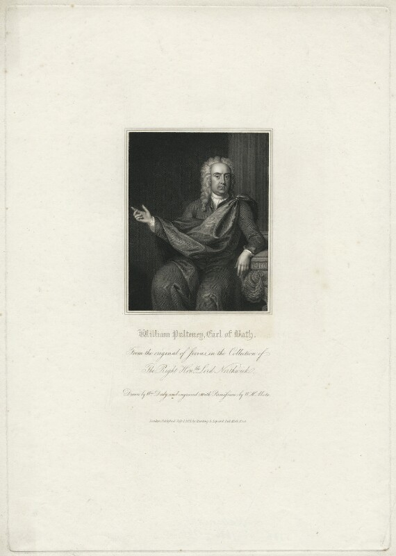 William Pulteney, 1st Earl of Bath, by William Henry Mote, published by  Harding & Lepard, after  Charles Jervas, published 1831 - NPG D21503 - © National Portrait Gallery, London