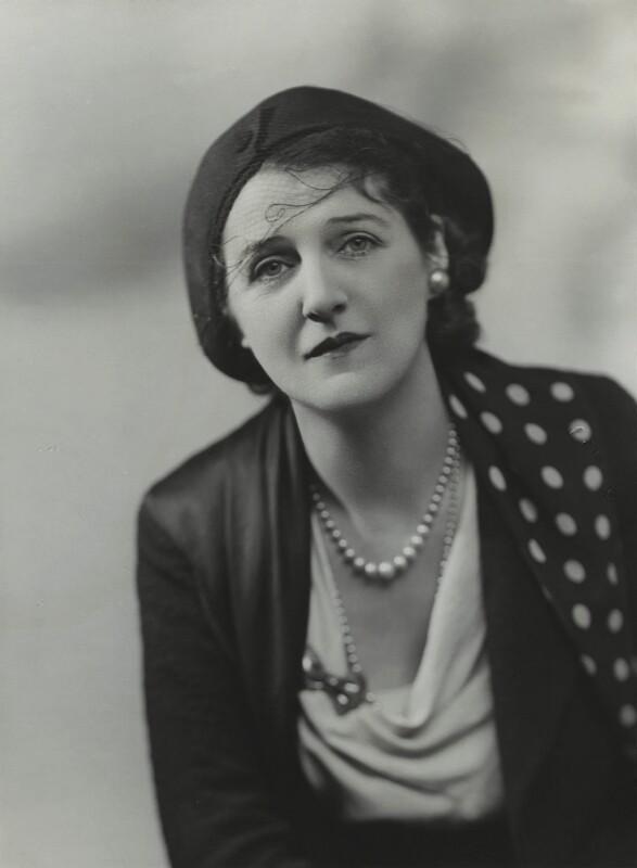 Victoria Jessamine Chatterton (née Merchant), by Bassano Ltd, 22 October 1936 - NPG x85776 - © National Portrait Gallery, London