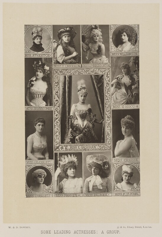 'Some Leading Actresses: A Group', by W. & D. Downey, published by  Cassell & Company, Ltd, published 1890 - NPG Ax14728 - © National Portrait Gallery, London