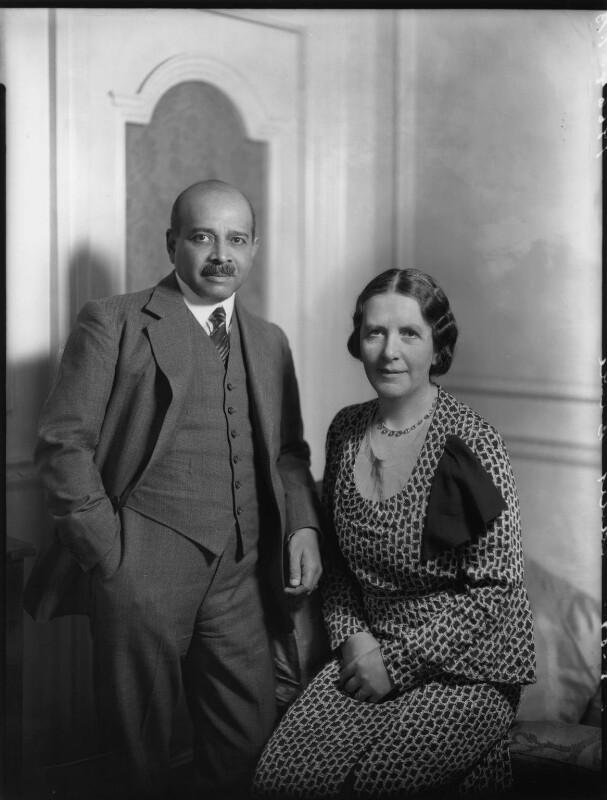 Sir Joseph William Bhore; Margaret Wilkie (née Stott), Lady Bhore, by Bassano Ltd, 2 May 1935 - NPG x151318 - © National Portrait Gallery, London