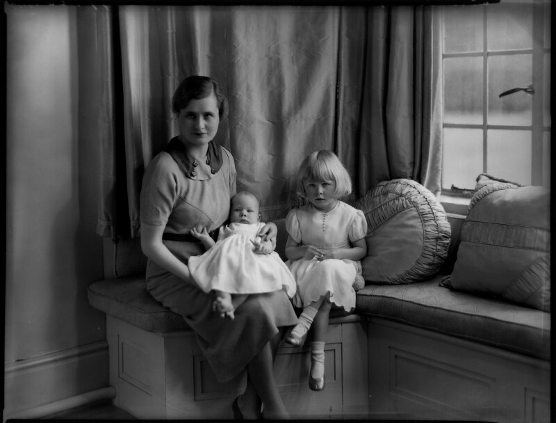 Hon. Mary Cecilia McNair Scott (née Berry) and children, by Bassano Ltd, 27 May 1935 - NPG x151351 - © National Portrait Gallery, London