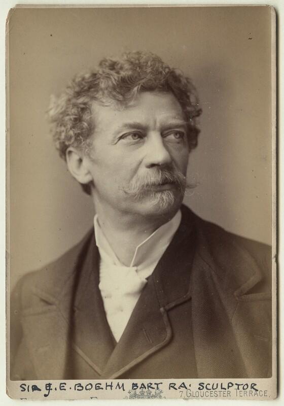 Sir Joseph Edgar Boehm, 1st Bt, by Elliott & Fry, circa 1887-1890 - NPG x1131 - © National Portrait Gallery, London