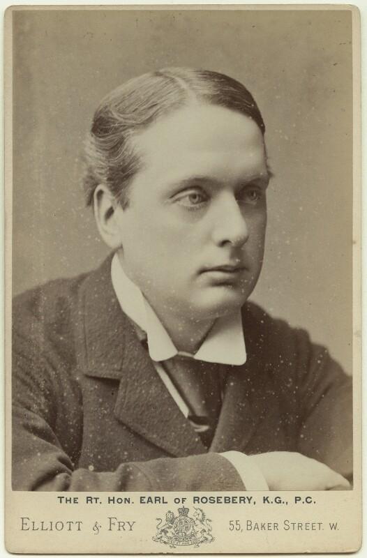 Archibald Philip Primrose, 5th Earl of Rosebery, by Elliott & Fry, 1886-1896 - NPG x12551 - © National Portrait Gallery, London