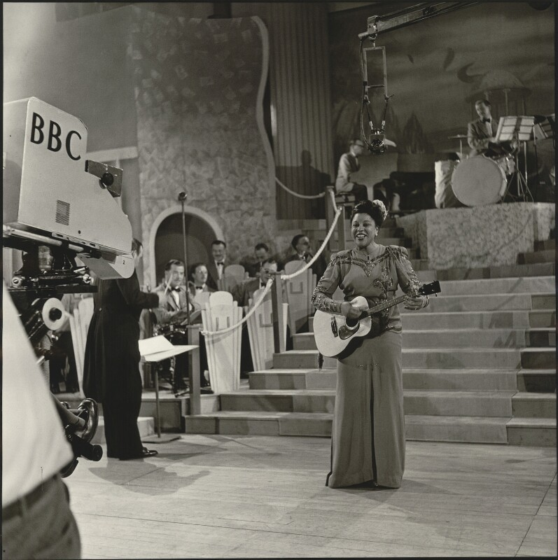 Adelaide Hall, by Unknown photographer, for  BBC, 7 October 1947 - NPG x128771 - © BBC