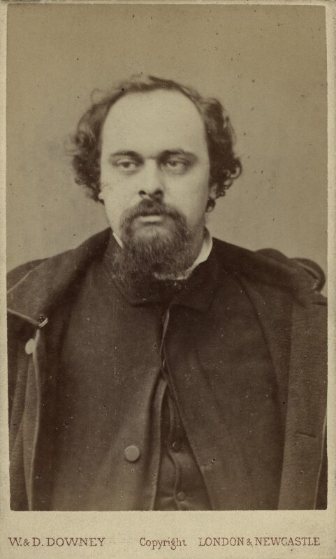 Dante Gabriel Rossetti, by W. & D. Downey, 1880s (December 1862) - NPG x6424 - © National Portrait Gallery, London