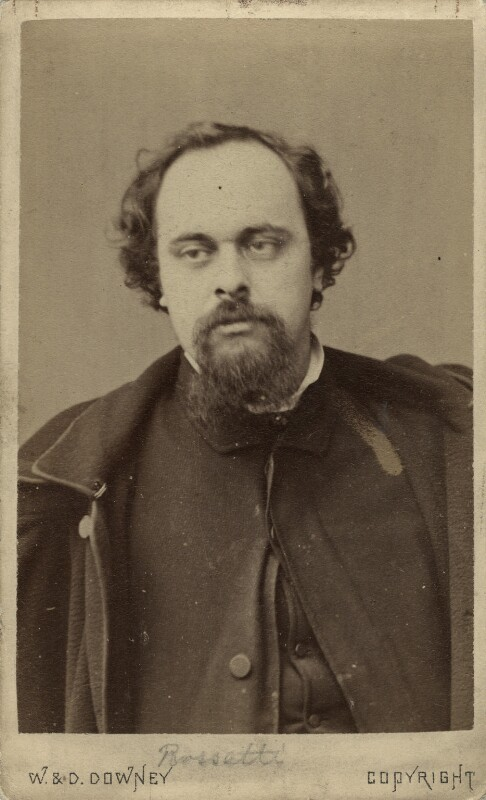 Dante Gabriel Rossetti, by W. & D. Downey, December 1862 - NPG x45950 - © National Portrait Gallery, London