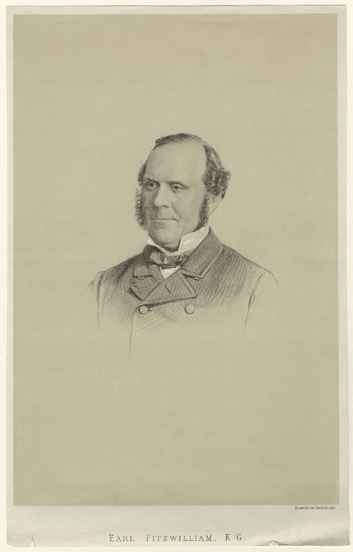 William Thomas Spencer Wentworth Fitzwilliam, 4th Earl Fitzwilliam, by Vincent Brooks, after  Unknown artist, 1862 or after - NPG D21531 - © National Portrait Gallery, London