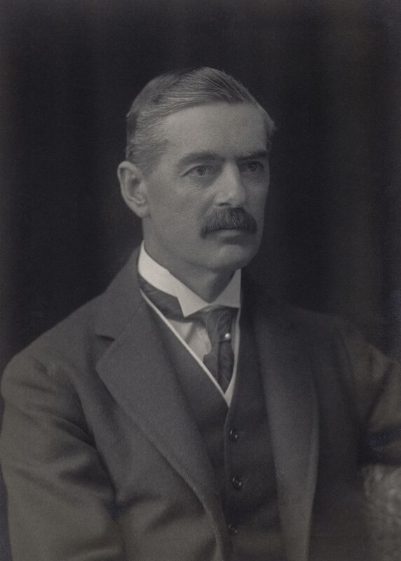 Neville Chamberlain, by Walter Stoneman, 1921 - NPG x166506 - © National Portrait Gallery, London