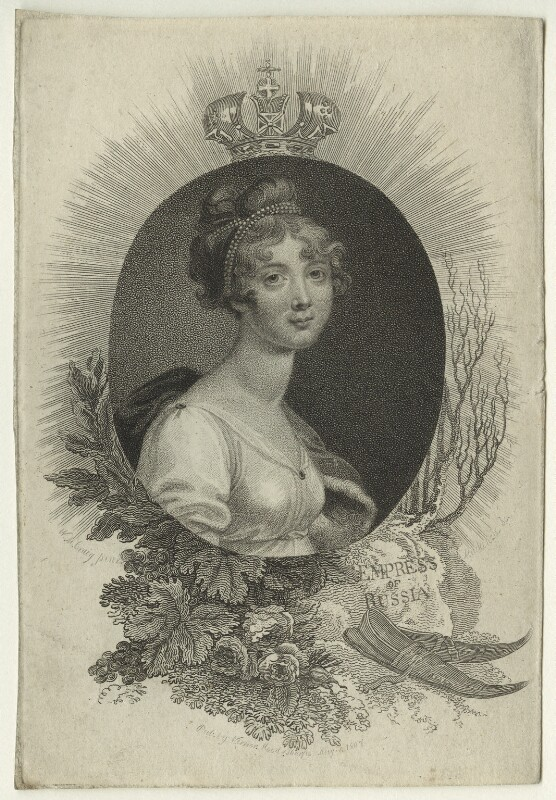 Elizabeth, Empress of Russia, by Mackenzie, after  William Marshall Craig, published 1807 - NPG D23530 - © National Portrait Gallery, London