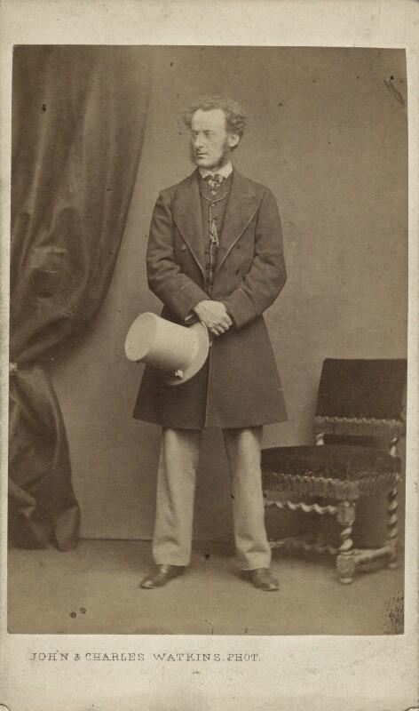 Sir John Everett Millais, 1st Bt, by John & Charles Watkins, early-mid 1860s - NPG x6276 - © National Portrait Gallery, London