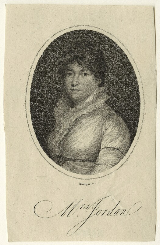 Dorothy Jordan, by Mackenzie, published 1805 - NPG D23541 - © National Portrait Gallery, London