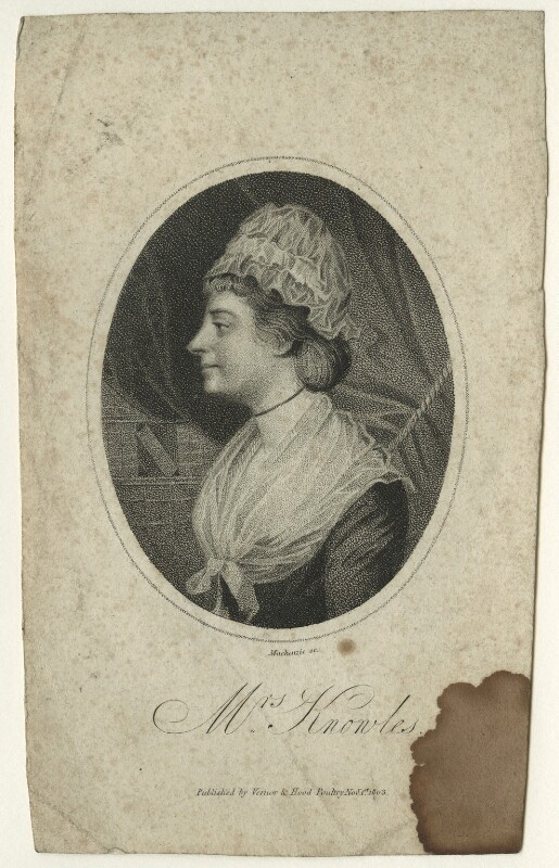 Mary Knowles (née Morris), by Mackenzie, published 1803 - NPG D23542 - © National Portrait Gallery, London