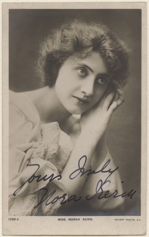 Nora Kerin, by Lizzie Caswall Smith, published by  Rotary Photographic Co Ltd, 1900s - NPG x19124 - © National Portrait Gallery, London