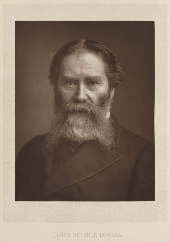James Russell Lowell, by Elliott & Fry, published by  Bickers & Son, published 1886 - NPG Ax27809 - © National Portrait Gallery, London