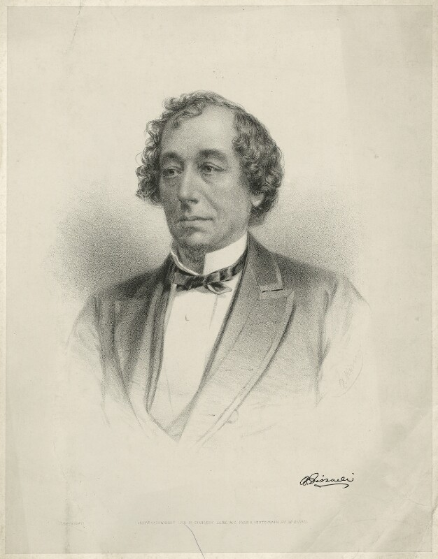 Benjamin Disraeli, Earl of Beaconsfield, by Frederick Cartwright, after  Mayall, 1860s - NPG D21538 - © National Portrait Gallery, London
