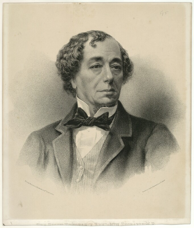 Benjamin Disraeli, Earl of Beaconsfield, by Maclure, Macdonald & Macgregor, 1860s - NPG D21541 - © National Portrait Gallery, London