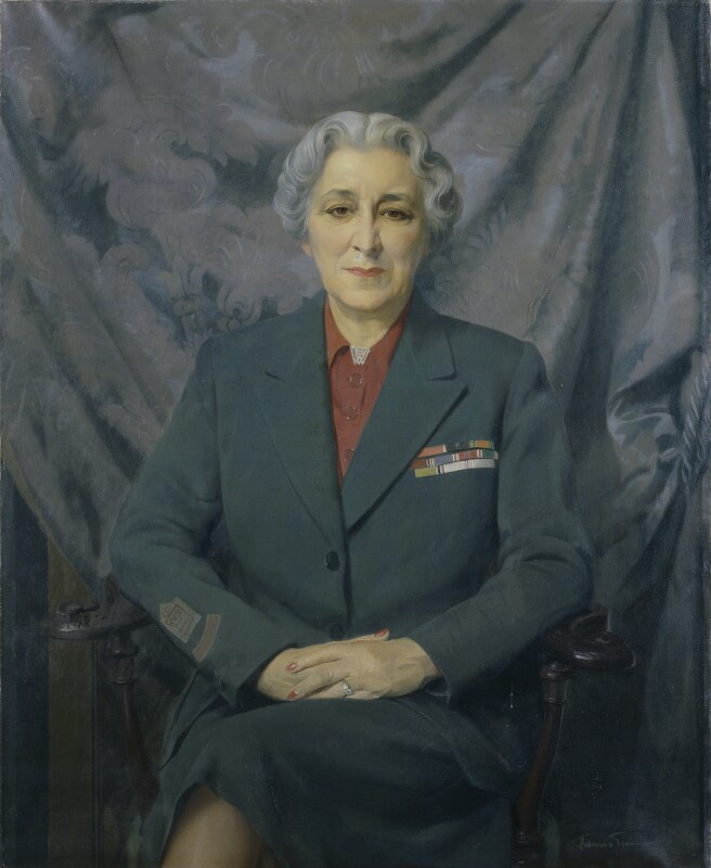 Stella Isaacs, Marchioness of Reading (also Baroness Swanborough), by Sir James Gunn, 1961-1962 - NPG 6833 - © National Portrait Gallery, London