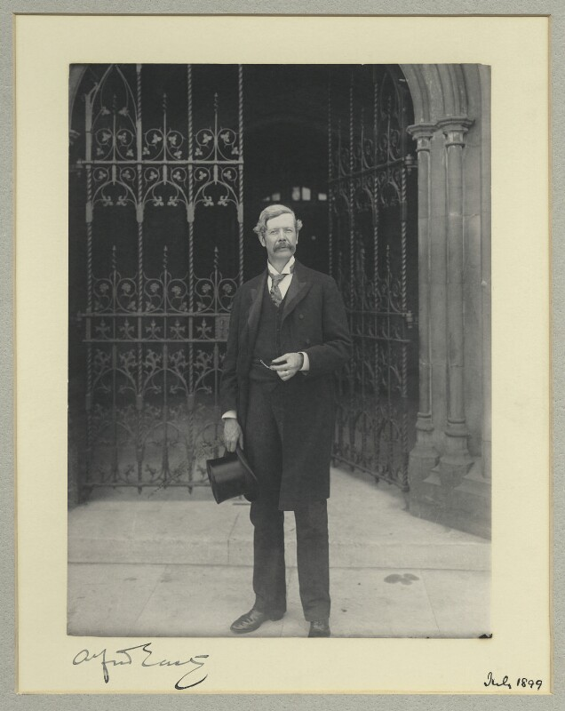 Sir Alfred Edward East, by Benjamin Stone, July 1899 - NPG x44667 - © National Portrait Gallery, London