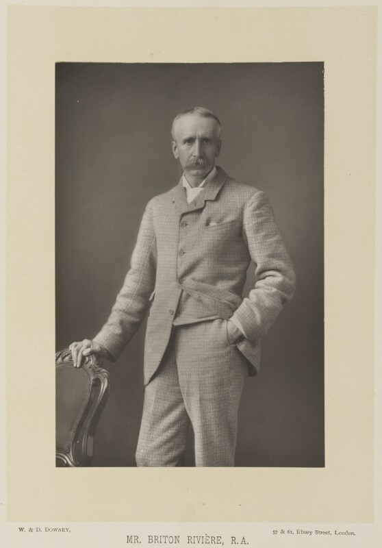 Briton Riviere, by W. & D. Downey, published by  Cassell & Company, Ltd, published 1891 - NPG Ax15898 - © National Portrait Gallery, London