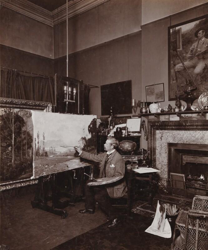 Sir Alfred Edward East, by Frederic G. Hodsoll, 1904 - NPG Ax25158 - © National Portrait Gallery, London
