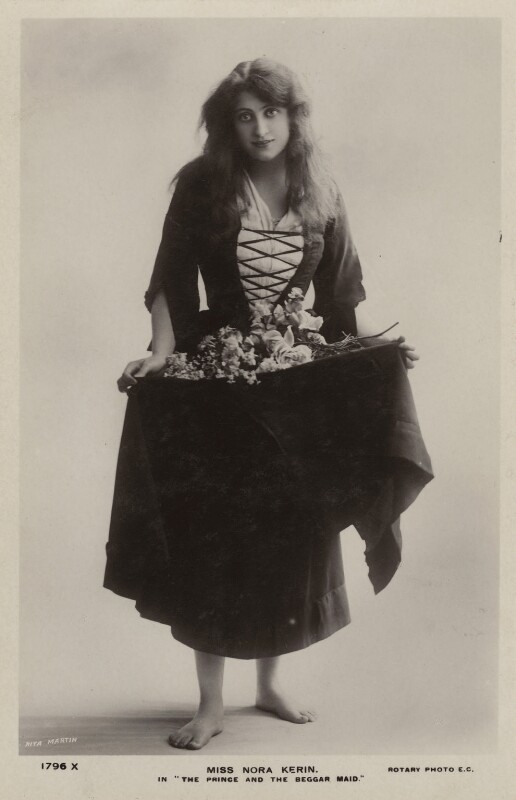 Nora Kerin in 'The Prince and the Beggarmaid', by Rita Martin, published by  Rotary Photographic Co Ltd, 1908 - NPG x128831 - © National Portrait Gallery, London