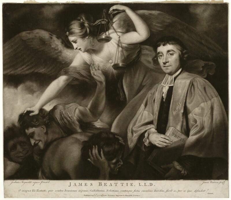 James Beattie, by James Watson, after  Sir Joshua Reynolds, published 1775 (1773) - NPG D23555 - © National Portrait Gallery, London