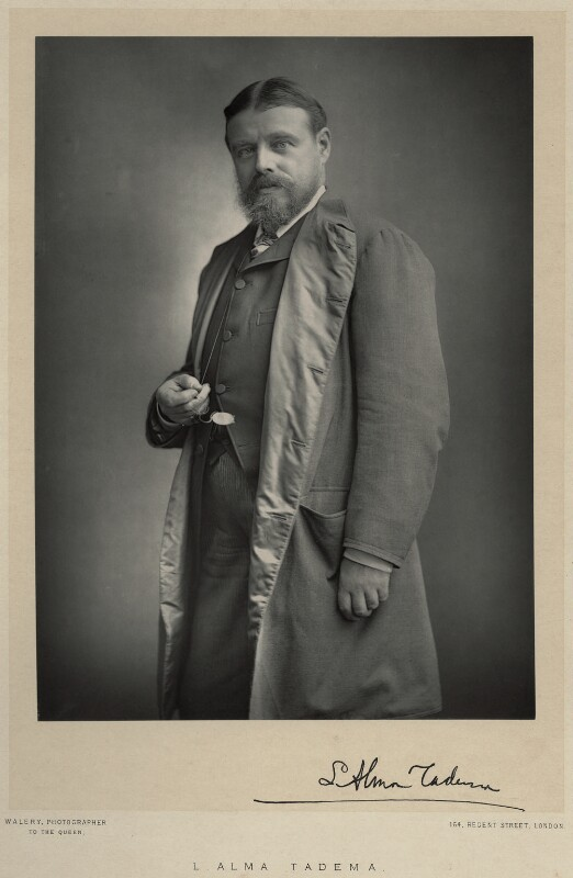 Sir Lawrence Alma-Tadema, by Walery, published by  Sampson Low & Co, published November 1888 - NPG Ax9107 - © National Portrait Gallery, London