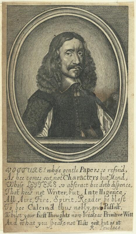 Vincent Voiture, by William Faithorne, 1650s-1680s - NPG D22972 - © National Portrait Gallery, London