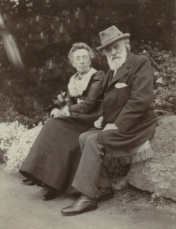 Frances Rosetta Legros (née Hodgson); Alphonse Legros, by Unknown photographer, 1900s - NPG x87225 - © National Portrait Gallery, London