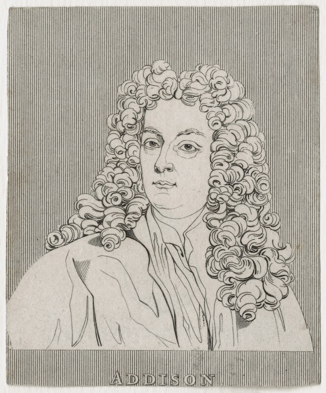 Joseph Addison, after Sir Godfrey Kneller, Bt, late 18th-early 19th century - NPG D31567 - © National Portrait Gallery, London