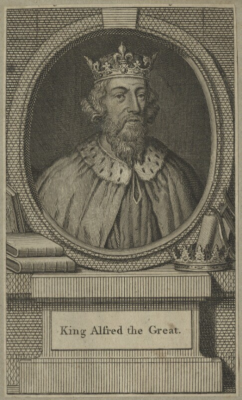 King Alfred ('The Great'), after Unknown artist, mid 18th century - NPG D23578 - © National Portrait Gallery, London