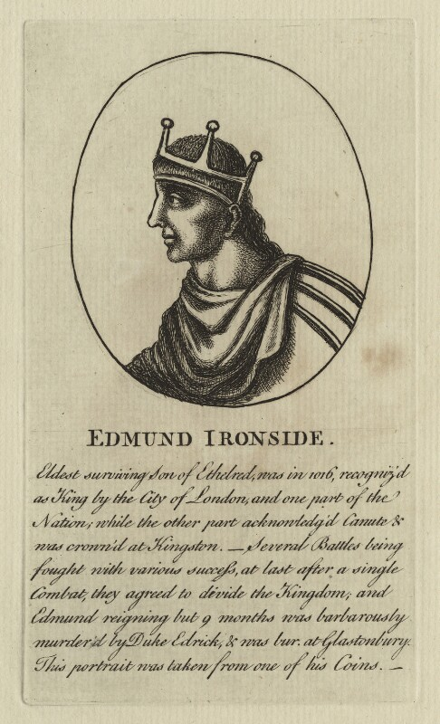 King Edmund ('Ironside'), after Unknown artist, 18th century - NPG D23586 - © National Portrait Gallery, London