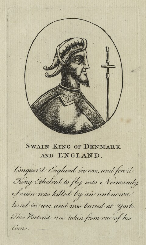 Swain, King of Denmark and England, after Unknown artist, 18th century - NPG D23587 - © National Portrait Gallery, London