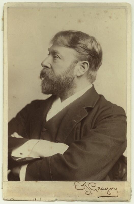 Edward John Gregory, by Elliott & Fry, mid-late 1890s - NPG x16899 - © National Portrait Gallery, London