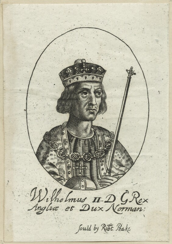 King William II ('Rufus'), possibly by William Faithorne, probably 17th century - NPG D23611 - © National Portrait Gallery, London