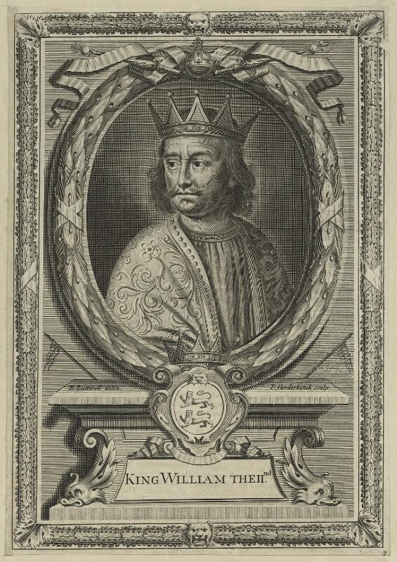 King William II ('Rufus'), by Peter Vanderbank (Vandrebanc), after  Edward Lutterell (Luttrell), 1706 - NPG D23612 - © National Portrait Gallery, London