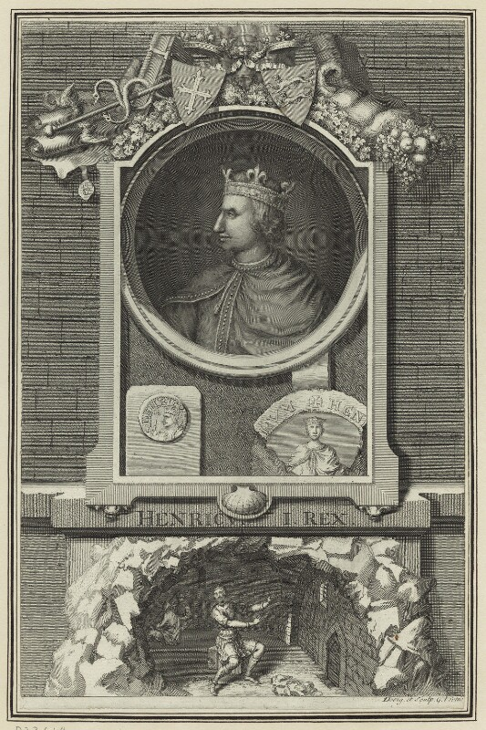 King Henry I, by George Vertue, after  Unknown artist, early to mid 18th century - NPG D23614 - © National Portrait Gallery, London