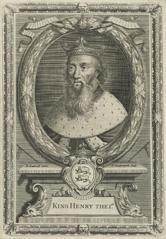 King Henry I, by Peter Vanderbank (Vandrebanc), after  Edward Lutterell (Luttrell), 1706 - NPG D23615 - © National Portrait Gallery, London