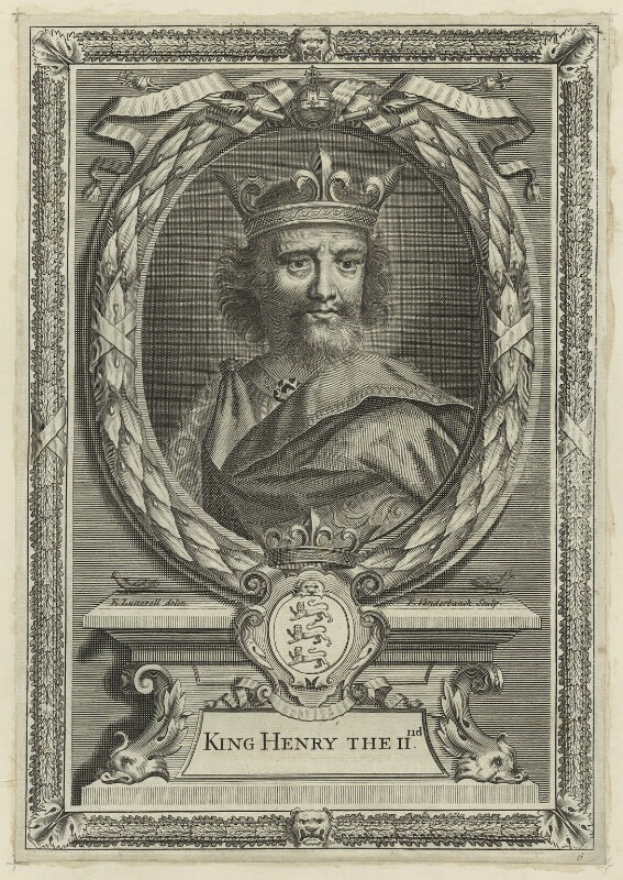 King Henry II, by Peter Vanderbank (Vandrebanc), after  Edward Lutterell (Luttrell), possibly early 18th century - NPG D23628 - © National Portrait Gallery, London