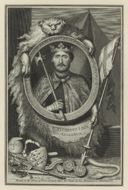 King Richard I ('the Lionheart'), by George Vertue, 1732 - NPG D23631 - © National Portrait Gallery, London