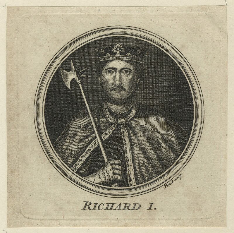 King Richard I ('the Lionheart'), by W. Proud, mid 18th century - NPG D23632 - © National Portrait Gallery, London