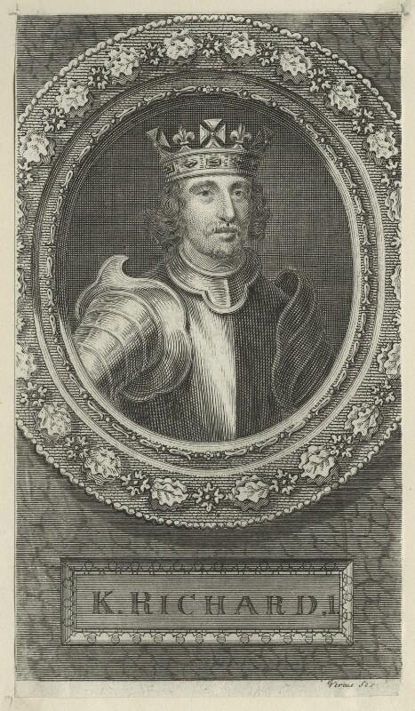 King Richard I ('the Lionheart'), by George Vertue, 1745 - NPG D23636 - © National Portrait Gallery, London