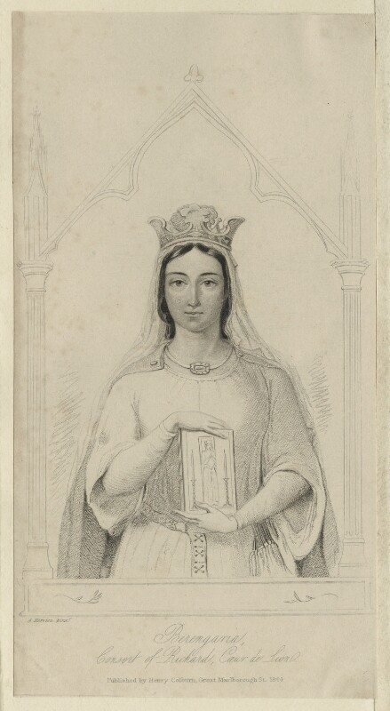Queen Berengaria of Navarre, after Auguste Hervieu, published 1844 - NPG D23640 - © National Portrait Gallery, London
